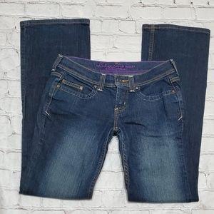Lilac Anchor Blue Denim Jean Pant Bottoms 7